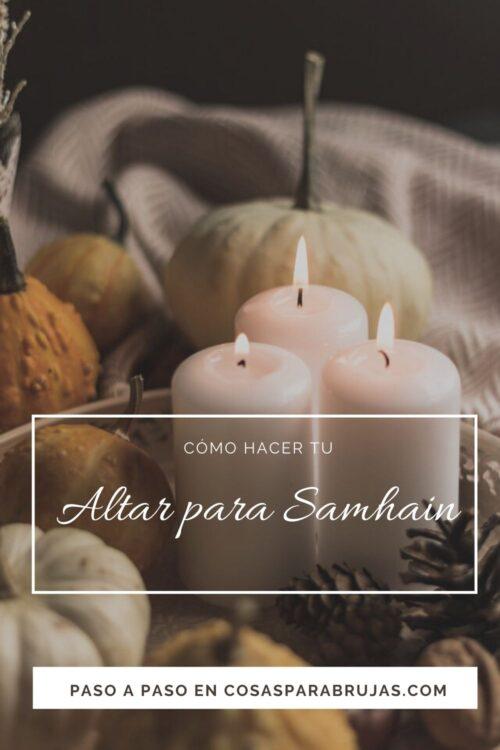velas y calabazas altar samhain