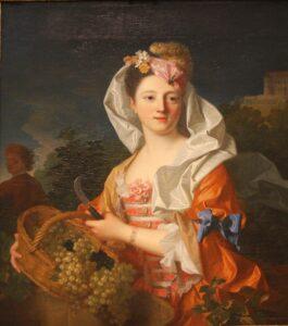 diosa romana Pomona con cesta de frutas