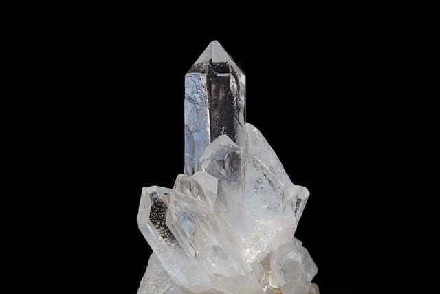 Piedra de cuarzo transparente
