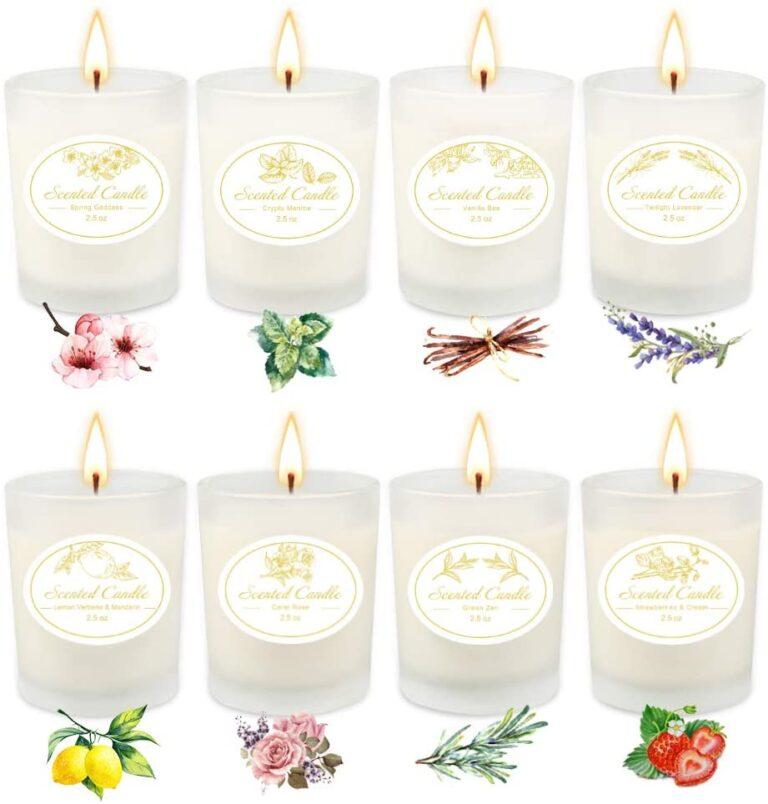 velas de soja con aroma