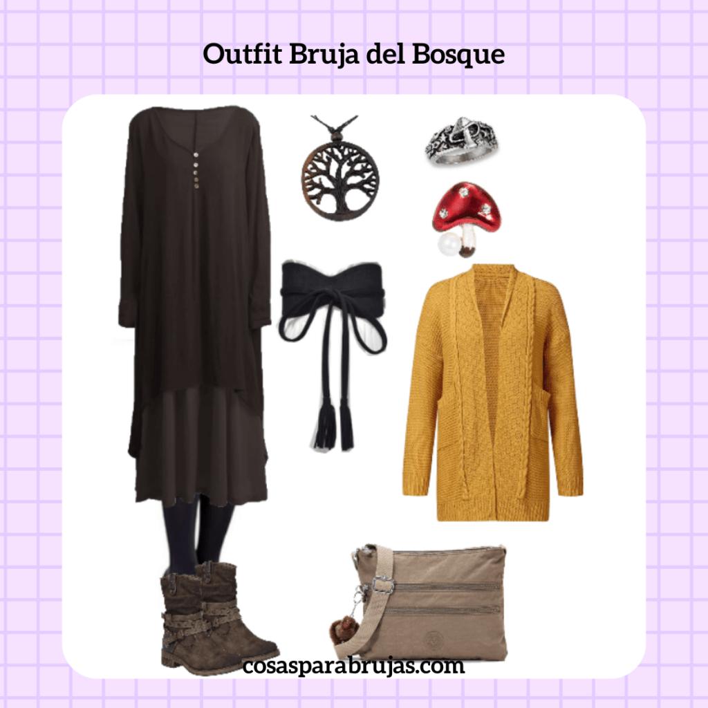 outfit bruja del bosque