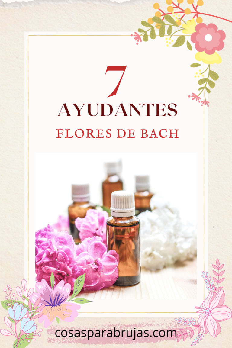 7 ayudantes flores de bach tarjeta