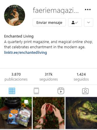 cuentas de instagram mágicas Faerie Magazine