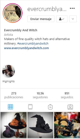 cuentas de instagram mágicas EverCrumbly and Witch