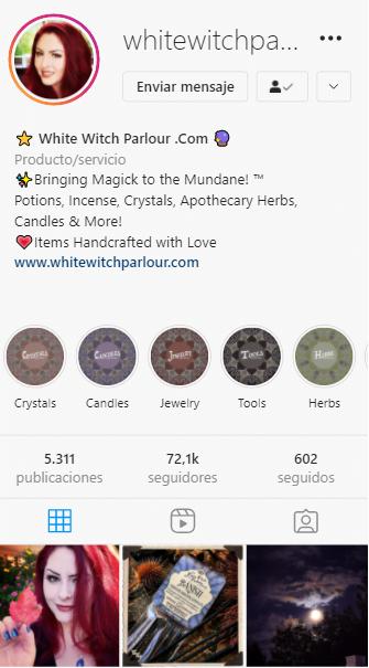 cuentas de instagram mágicas white witch parlour