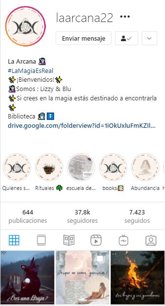 cuentas de instagram mágicas La Arcana