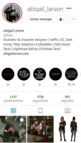 cuentas de instagram mágicas Abigail Larson