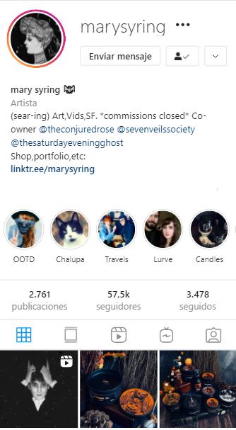 cuentas de instagram mágicas Mary Syring