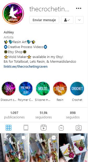 cuentas de instagram mágicas the Crocheting Raven